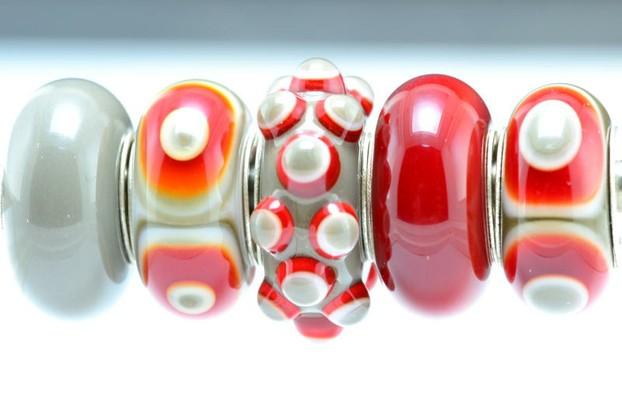 The Velvet Box OSU Ohio State University Lampwork Bead Collection
