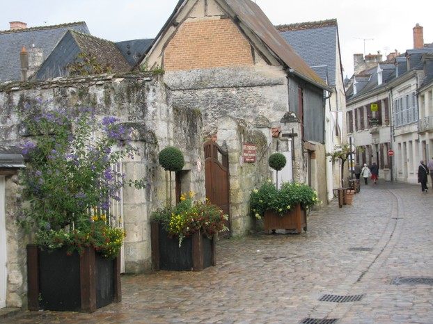 A cobbled street in Azay-le-Rideau