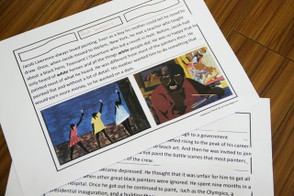Jacob Lawrence Notebooking Page