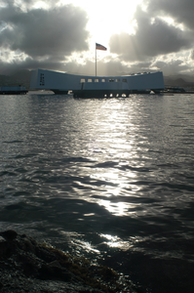 Sunrise over the USS Arizona