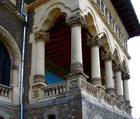 The Balcony With Carved Stones