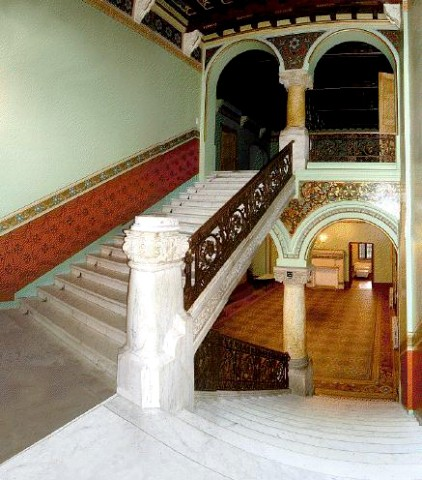 Staircase between first and second floor
