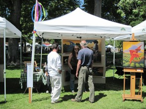 The Booth of W.B. Eckert at the Paso Robles Festival of the Arts