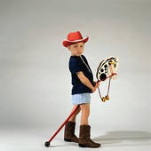 Little Boy with his Stick Horse
