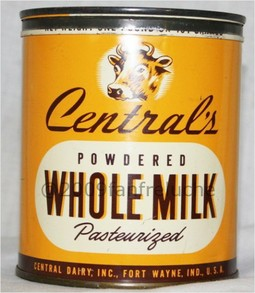 Vintage Central's dairy powdered milk tin can