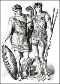 The Greeks wore a kilt like battle dress.