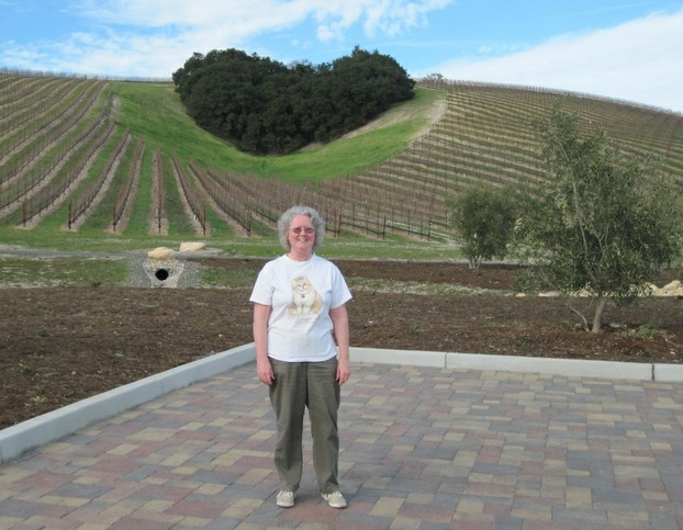 Barb below Heart Hill at Niner Estates in Paso Robles