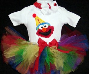 Elmo Birthday Tutu