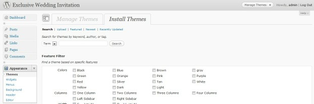 Choosing a Theme for Wordpress