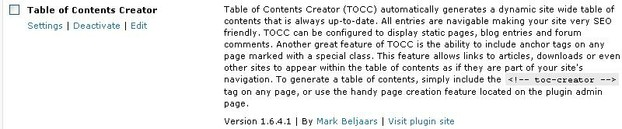 Table Of Contents Creator