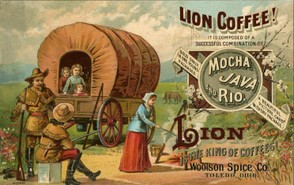 lion coffee trade card