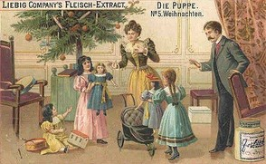 Patent Medicine Christmas trade card