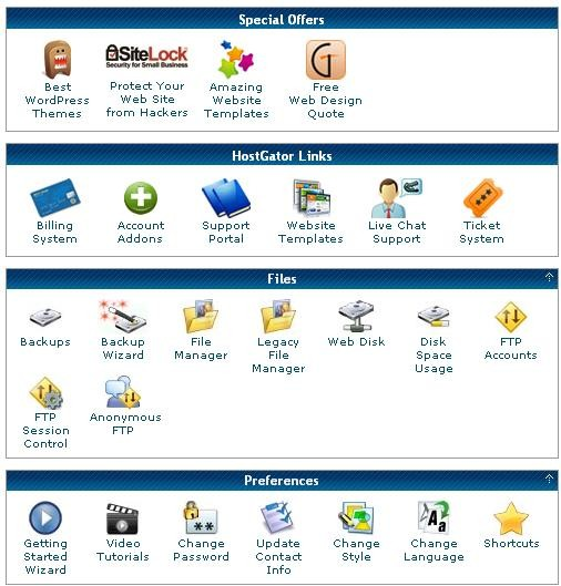 The cPanel part 1
