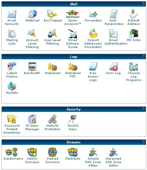 The cPanel part 2
