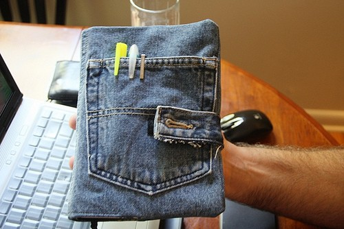 Denim Bible Cover Made from Old Jeans