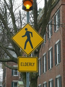 Elderly Crossing, Vermont, USA