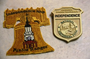 Independence Hall Junior Ranger Badges