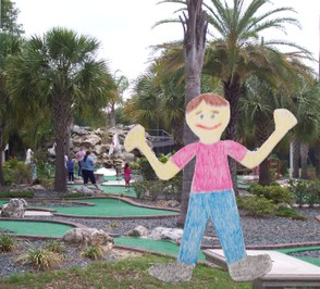 Stanley was really good at mini-golf.