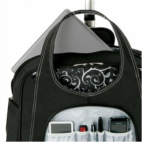 Rolling laptop bag: the pockets