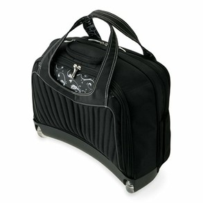 Rolling laptop bag on wheels, without the handle