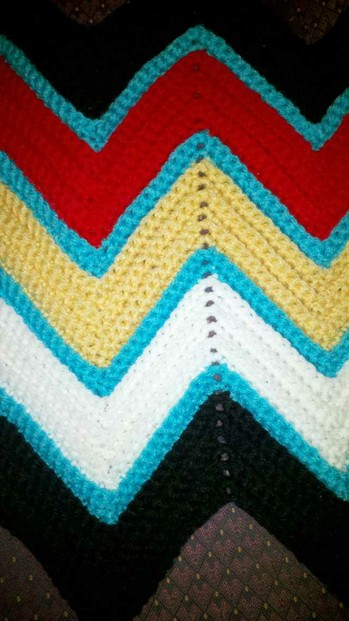 Crochet Patterns Native American : Medicine Wheel Ripple Afghan Free Crochet Pattern
