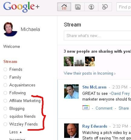An example of Google +