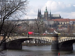 Vltava River and Prague Castle