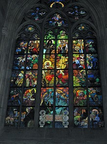 Alphons Mucha Arrt Nouveau Window in St Vitus