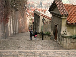 Prague Castle Tour, Castle Steps