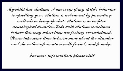 Text Side of Puzzlefly Autism Awareness Card