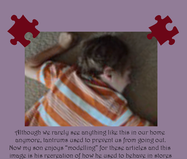 Kids with autism may throw themselves on the floor and hit, head bang and writhe.