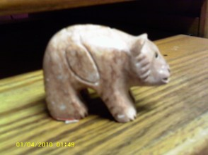 Alabaster Bear Carving