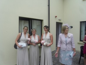 Mum and the bridesmaids