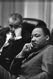 Martin Luther King and Lyndon Johnson