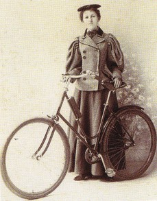 female cyclist about 1900