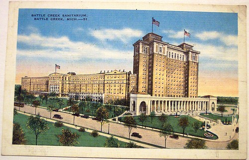 postcard for Battle Creek Sanitorium
