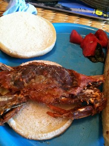 Soft shell crab poor boy