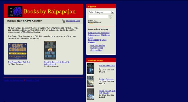 A screen shot of Books by Ralpapajan on Amazon.co.uk