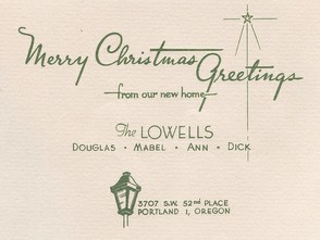 1960s Christmas Greeting Card