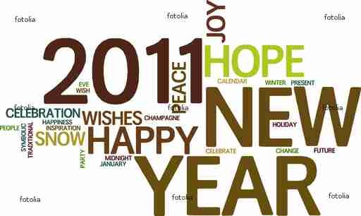 New Year 2011 Word Cloud