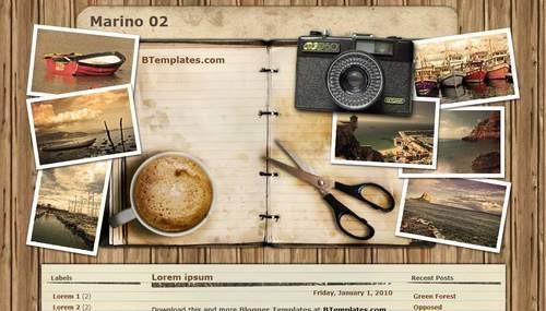Marino Vintage Blogger Template