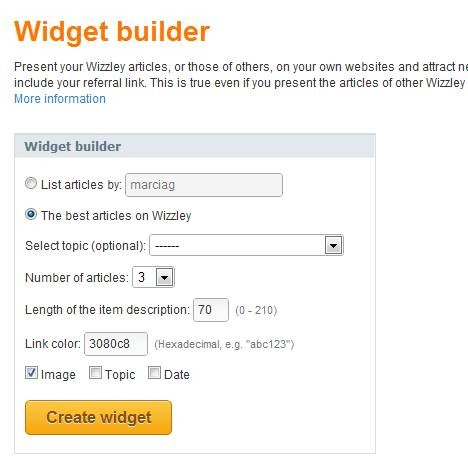 building your widget