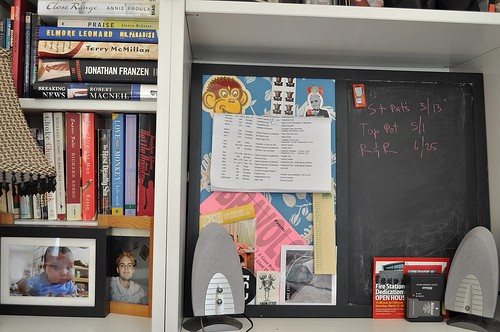 chalkboard/corkboard made from a whiteboard