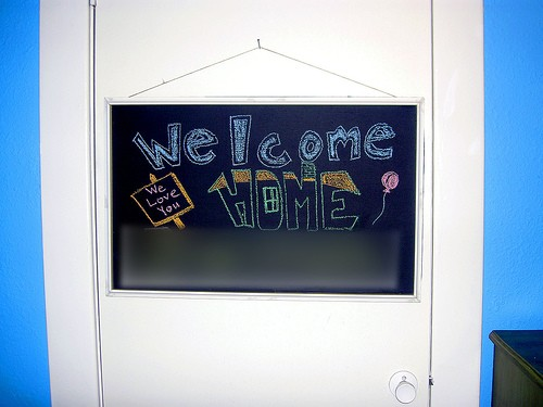 chalkboard made from a whiteboard