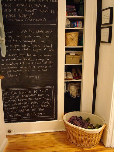 chalkboard paint on a wall