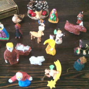 home made nativity set