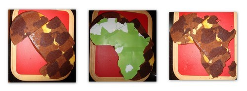 Africa Cake Template