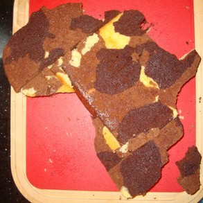 Africa Cake from Template