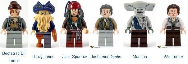 LEGO 4184 Bootstrap Bill Pirates of the Caribbean Minifig // Mini Figure