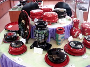 Some of the incredible Japanese Lacquerware shown to us at the Factory in Naha City